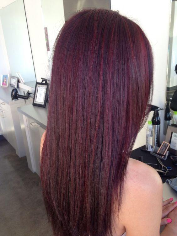 más caliente rojo oscuro color de pelo - Caoba Hair