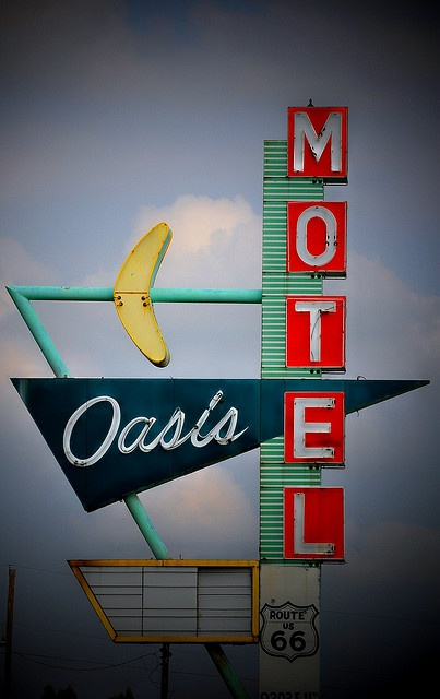 this is weird - is that a boomerang? a banana? Why would one find it at an oasis? crazy