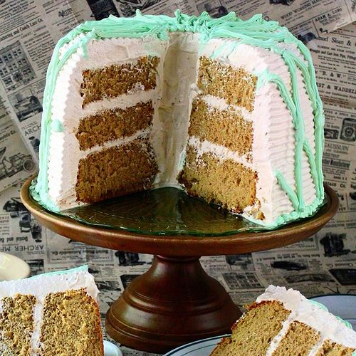 Double Espresso Coffee Chiffon Cake with Fat-Free Frosting ...