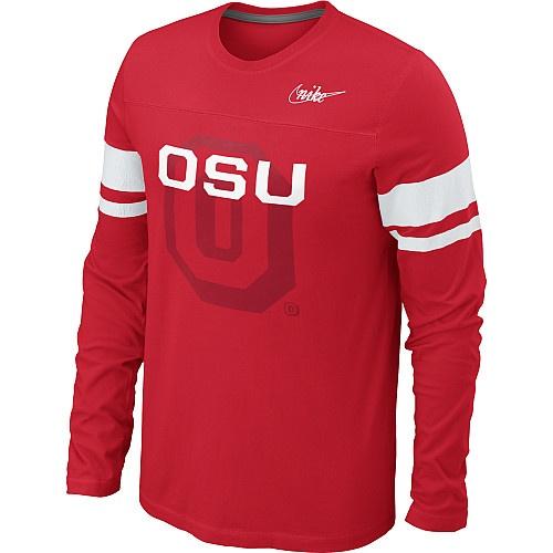 Nike Ohio State Buckeyes Men's Vault Football Long Sleeve T-Shirt - NFLShop.com