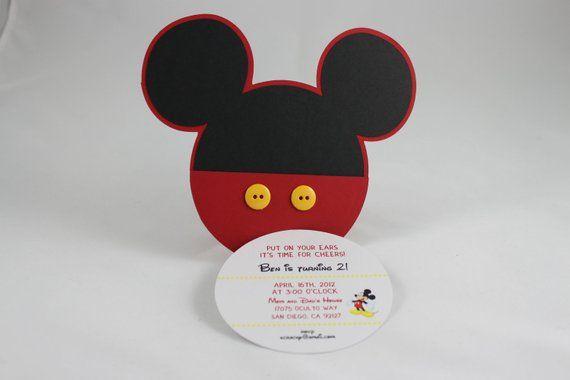 Mickey Mouse Invitation Mickey Bday Ideas Mickey Mouse