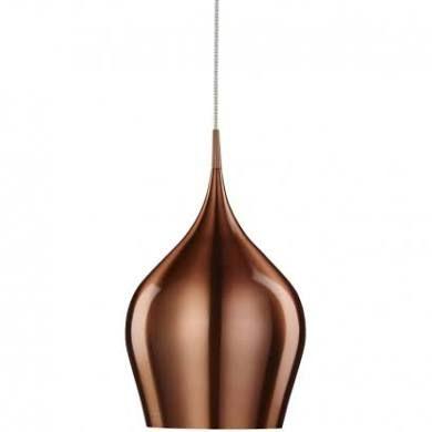 Vibrant Copper Aluminium Large Single Pendant - Searchlight 6461-26cu