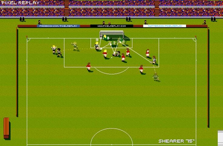 Shearer's goal in 5-0 win vs Man U in 1996.