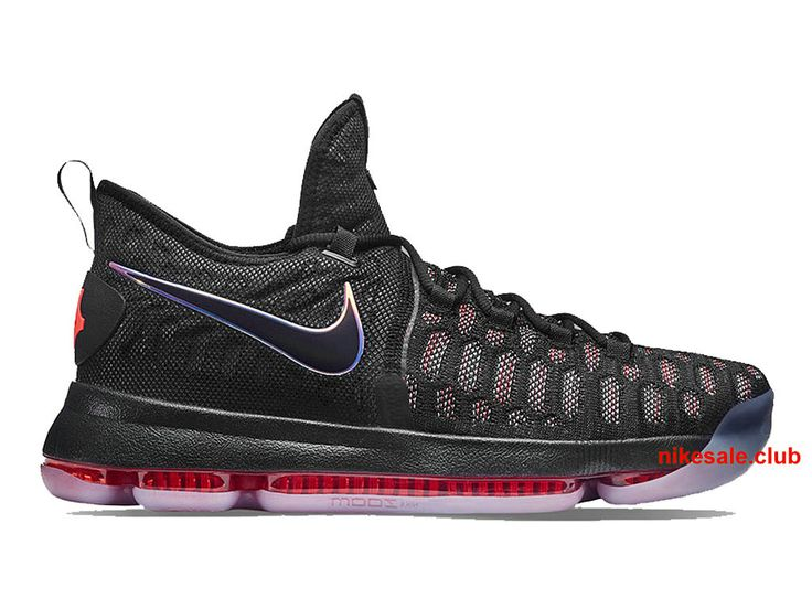 Nike KD 9 Prix Chaussurs Nike BasketBall Pas Cher Pour Homme Noir/Rouge  843392-