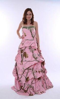 Splendid Sweetheart Floor-length Pink Camo Wedding Dress
