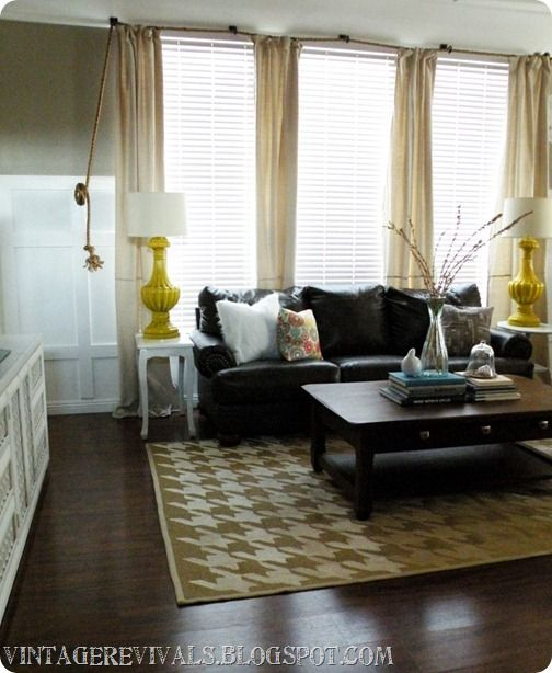 Rope curtain rod tutorialDining Room, Living Rooms, Ropes Curtains Rods, Curtain Rods, Hang Curtains, Hanging Curtains, Rods Tutorials, Nautical Ropes, Curtains Hung