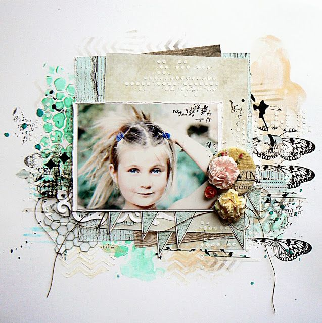 #papercraft #scrapbook #layout Beautiful layout by our Guest Designer Stephanie Papin - 13arts