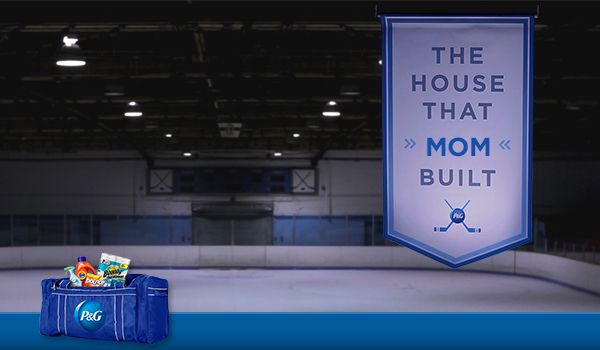 Celebrate an amazing hockey Mom in your community today and get a  P&G coupon*. This is the House That Mom Built.*while quantities are available