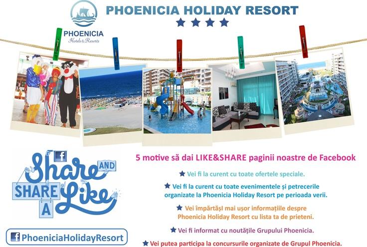Phoenicia Holiday Resort te asteapta pe FACEBOOK!