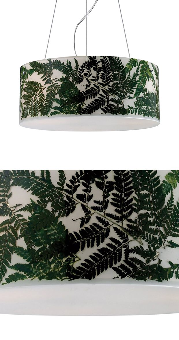 Green thumb not required. A nod to the time-honored hobby of flower pressing, the Botanica Drum Pendant Lamp features lush fern fronds unfurling across a background of creamy white. The lamp's drum sha...  Find the Botanica Drum Pendant Lamp, as seen in the Tropical Mid-Century Escape Collection at http://dotandbo.com/collections/tropical-mid-century-escape?utm_source=pinterest&utm_medium=organic&db_sku=117163