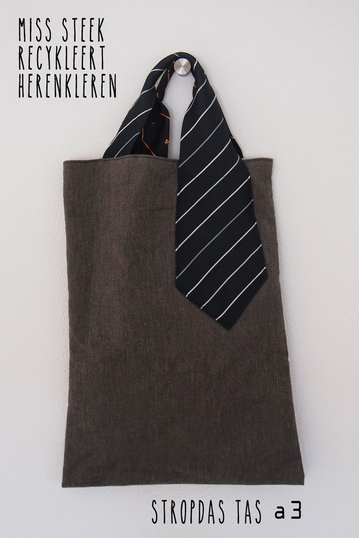 shopper van stropdas  overhemd tote from ties and shirts