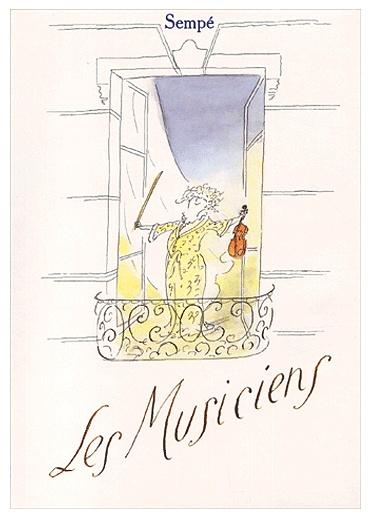 ¤ Jean-Jacques Sempé cover for his book Les Musiciens // The Musicians