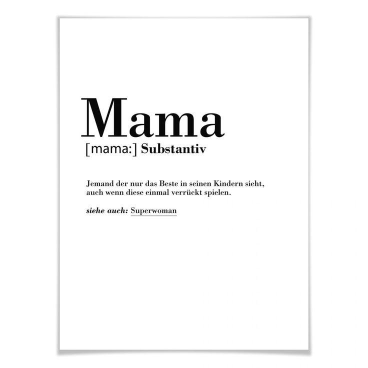 Poster Grammatik – Mama