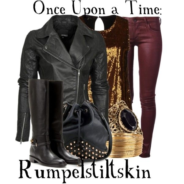 Once Upon A Time: Rumpelstiltskin inspired outfit. Become the tiny precious trash king.
