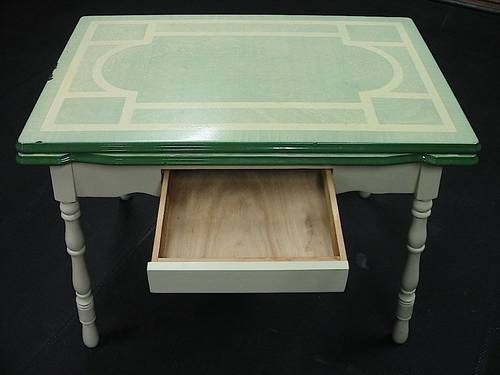 66 best vintage enamel kitchen tables images on pinterest