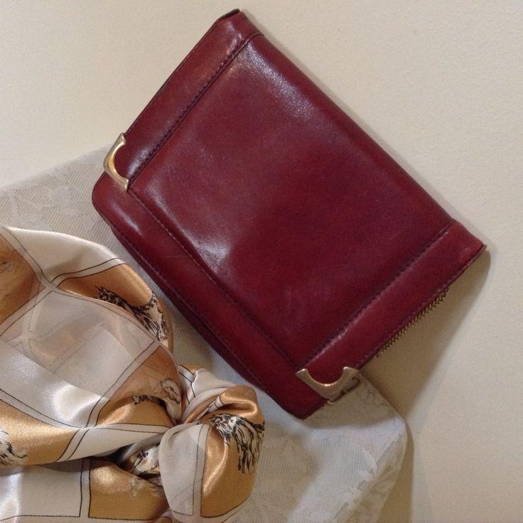 Dickens and Jones vintage 1940s leather handbag. SENSATIONAL by MerryLegsandTiptoes on Etsy