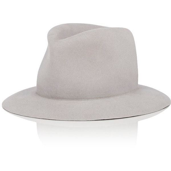 Albertus Swanepoel Men's Kidd Fedora featuring polyvore men's fashion men's accessories men's hats grey mens wide brim fedora mens fedora hats mens fedora mens hats fedora mens hats