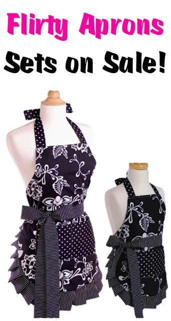 Flirty Aprons and Apron Sets on Sale! These make such CUTE Christmas gifts to stash away!