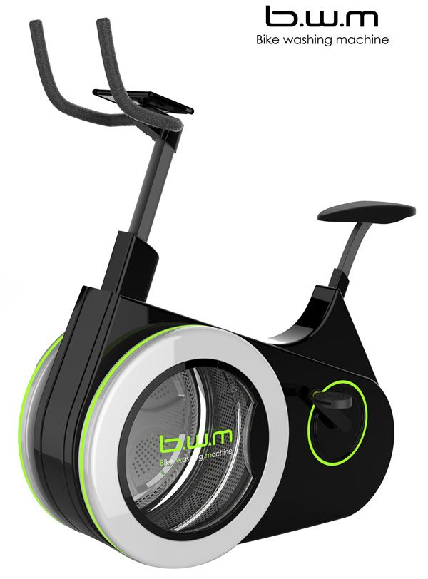 Just a design study but maybe the b.w.m (Bike Washing Machine) will soon come to a sports-studio near you? :-D