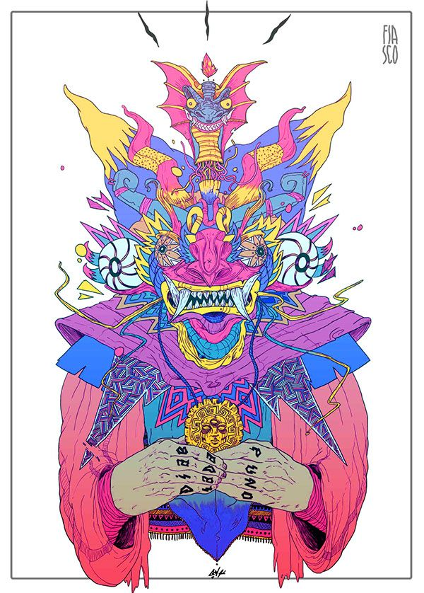 Sticker Diablada on Behance