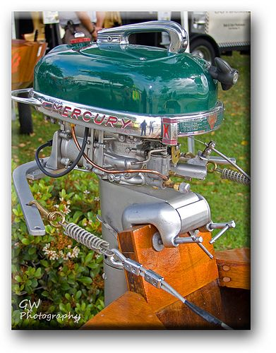 old mercury motor | This old Merc was steered by cables wrap… | Flickr