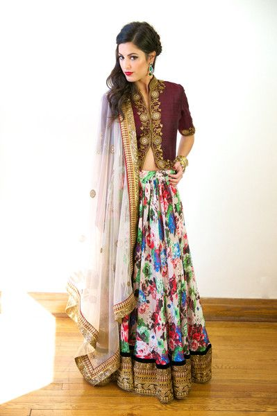 The Layla Floral Printed #Lehenga By Studio East6.