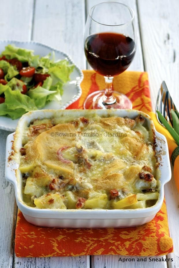 Apron and Sneakers - Cooking & Traveling in Italy: Tartiflette: French Potato, Onion & Cheese Gratin