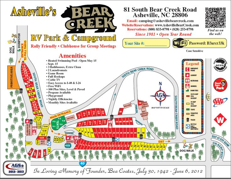 Bear creek rv park and campground asheville nc open