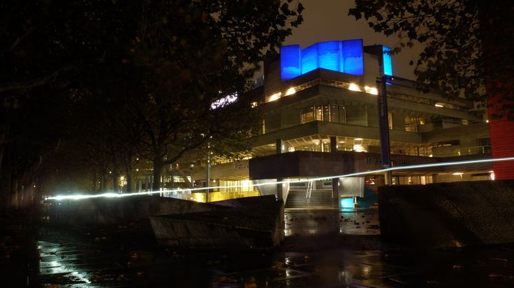 The national theatre on south bank, I tried to use long exposures to dramatise the light, the  corner is lined up and framed by the rocks on the floor and the parting in the trees. The line of light from a passing bike was actually by accident but it gave a lovely reflection along the left path which is another converging line to the viewers eye. It also gave a bit more light to the trees which was great for depth as well.