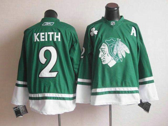 patch nhl jersey chicago blackhawks 2 duncan keith st. pattys day jersey