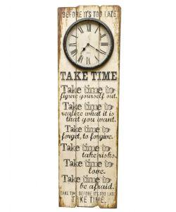 Klok hout ''take time''