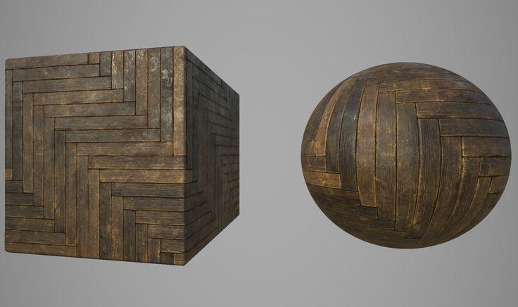 Old Wood Herringbone Tiles / Substance Designer, Nestor Carpintero on ArtStation…