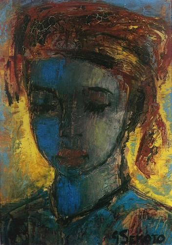 WOMEN WITH DOWNCAST EYES - Gerard Sekoto