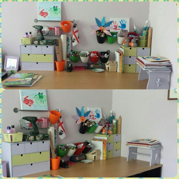 Il nostro tavolo dei lavoretti 😉 #basteltisch #lavorettibambini #ioeimieibambini #passatempi #creareinsieme