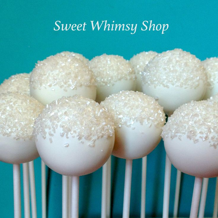 12 Frosty Glitter Snowball Cake Pops for Frozen party, Wedding, Bridal / Baby Shower, Winter Wonderland, One-derland, Baptism, Snow, tiffany by SweetWhimsyShop on Etsy https://www.etsy.com/listing/174733813/12-frosty-glitter-snowball-cake-pops-for