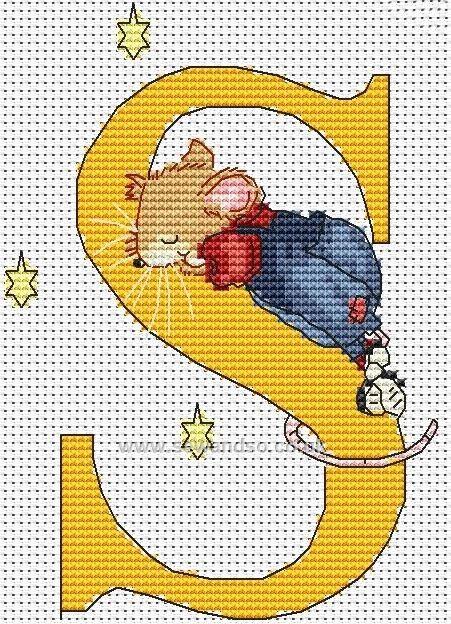Seraphina Alphabet Letter S Cross Stitch Kit
