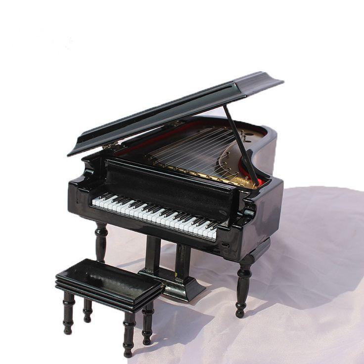 1/8 1/12 BJD Doll miniatura furniture european black piano - lati momoko