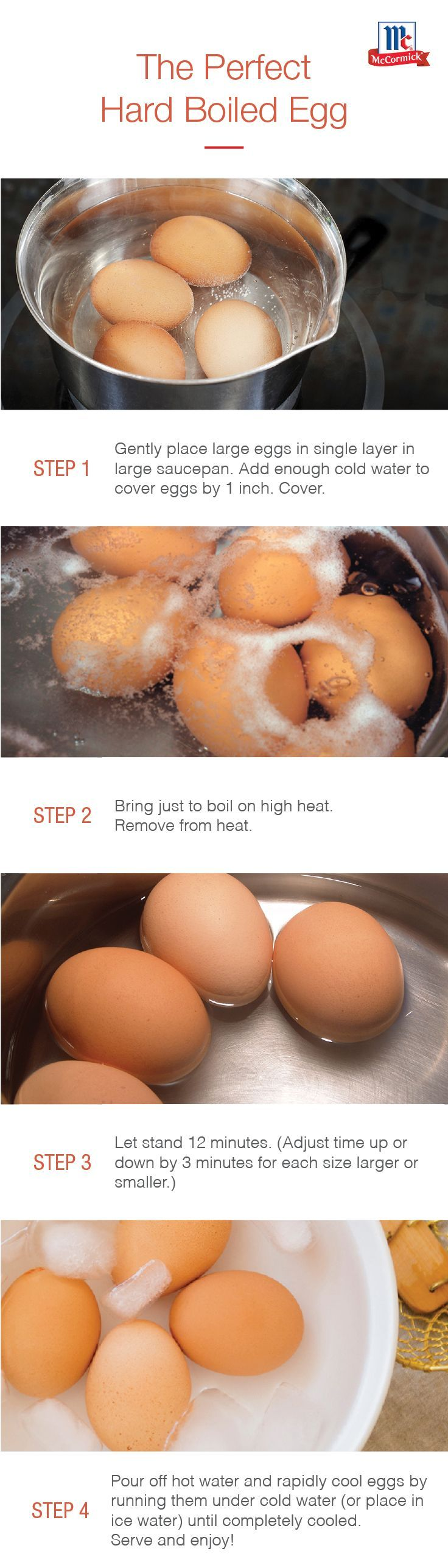 Looking for how to make perfect hard boiled eggs? Follow these no-fail instructions for the perfect eggs for dyeing, devil-ing and more. Hint: it's as easy as boiling water.