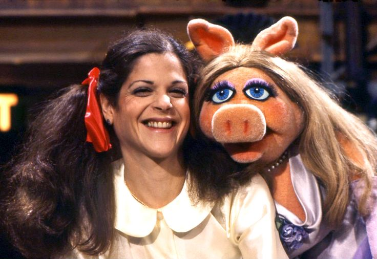 Gilda Radner | Gilda Radner with Miss Piggy on The Muppet Show .