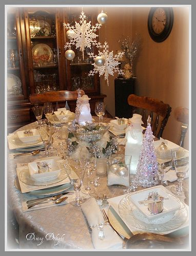 Winter Christmas Tablescape by dining delight, via Flickr