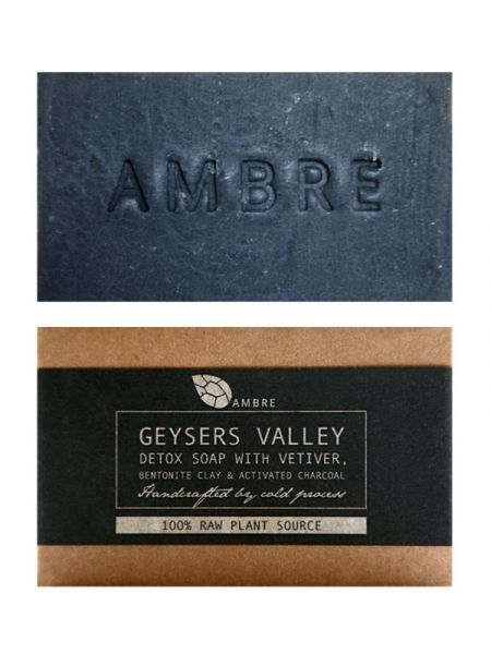 The AMBRE Geysers Valley Detox Soap contains Bentonite Clay and Activated Charcoal, both excellent for skin in need of detoxification.: Soaps, Geysers Valley, Detox Soap, Valley Detox, Bath Oil, Packaging, Geysers Detox, Products