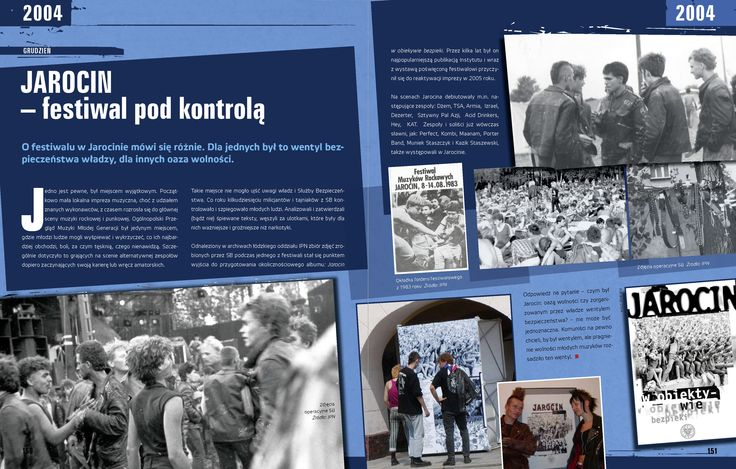 """IPN. Kronika 10 lat"". Projekt: Studio Zakład, www.zaklad.pl (Jarocin festiwal)"