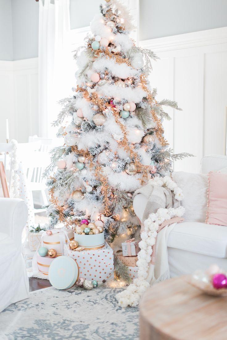 christmas tree pastel christmas decor craftberrybush. Black Bedroom Furniture Sets. Home Design Ideas