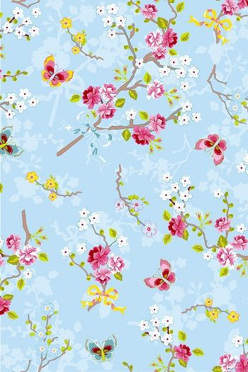 PiP Studio Chinese Rose Blue wallpaper