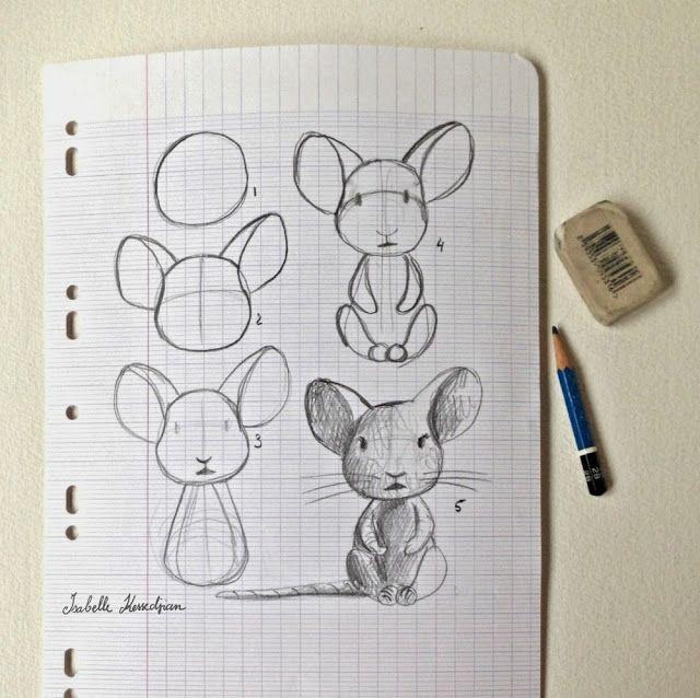 Isabelle Kessedjian: Dessin du mercredi #11 souris