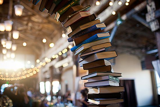 Wedding Arch: Book Arch Is The Centerpiece of Couple's Literary-Inspired Wedding (PHOTOS)