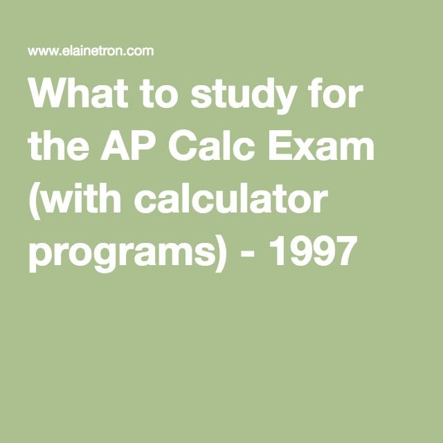 48 best ap calculus images on pinterest math mathematics and ap what to study for the ap calc exam with calculator programs 1997 fandeluxe Gallery