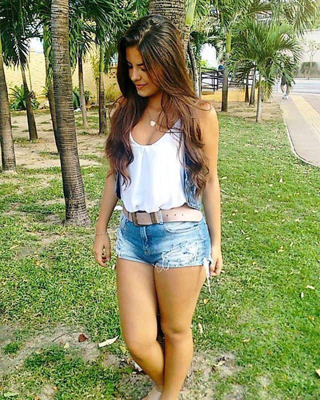 Short shorts latina glass dildo