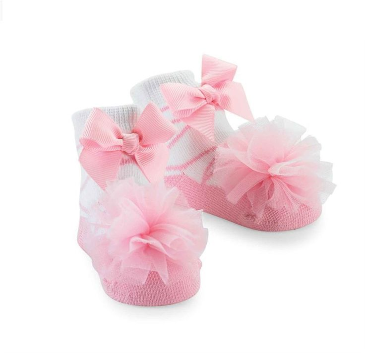 Mud Pie Tulle Puff Socks Pretty Newborn Baby