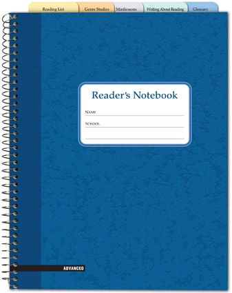 Reader's Notebook (Recommended for grades 4-8). I like these categories (Fountas and Pinnell)
